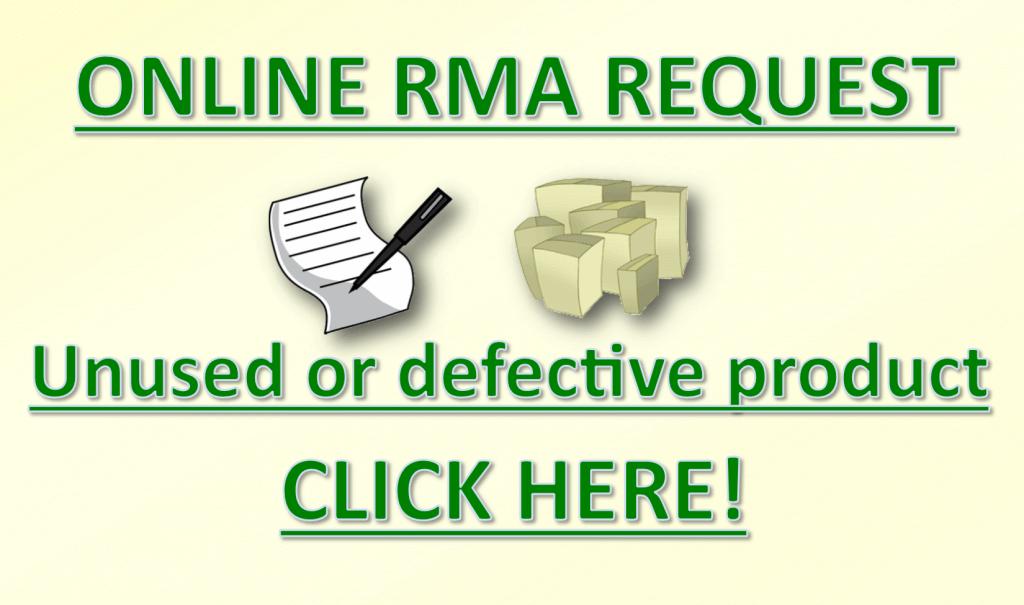 Online RMA Request Badge