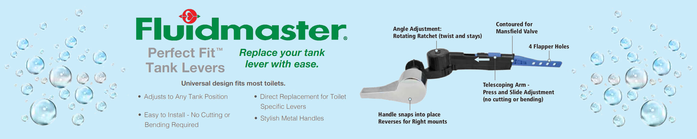 Fluidmaster Perfect Fit Tank Lever Home Slider